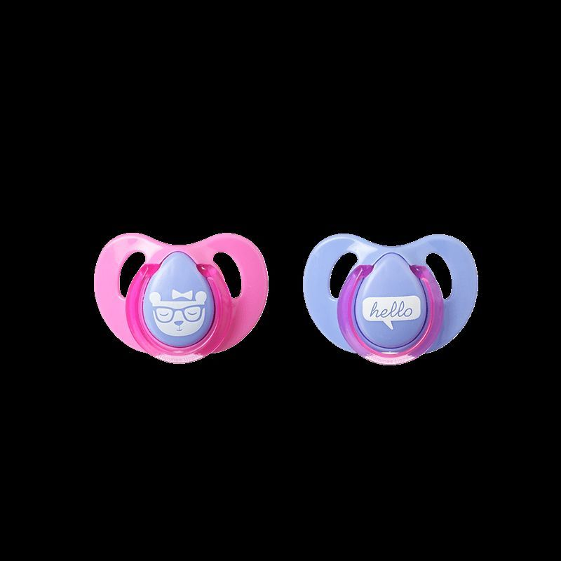 Tommee Tippee Decorated Cherry Soothers 6-18m Hello//Pink 1 2 3 6 12 Packs